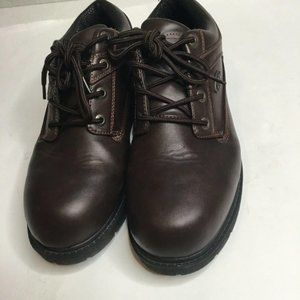 Lugz Mens Brown Leather Slip Resistant Casual Lace